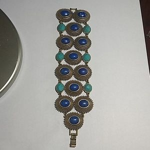 Lucky Brand Turquoise and Blue Clasp Bracelet